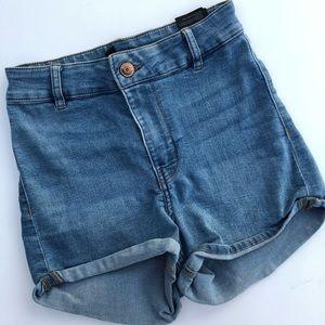 h&m xs demin shorts